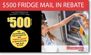 $500 Refrigerator Mail In Rebate